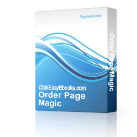 Order Page Magic   Software   Internet