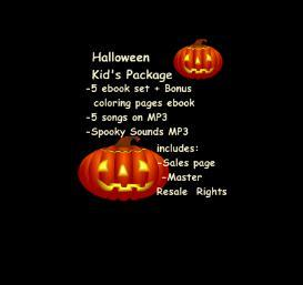 halloween kid's package ebooks audio mp3 graphics resell
