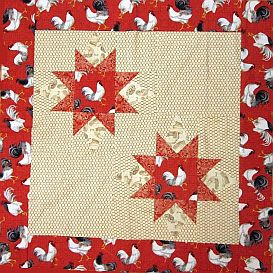 double star lap quilt