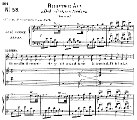 Deh vieni, non tardar,  (Aria for Soprano). With recitative Giunse al fin il momento. W.A.Mozart: Le Nozze di Figaro (The Marriage of Figaro), K. 492. , Vocal Score. Ed. Ricordi (1865) | eBooks | Sheet Music