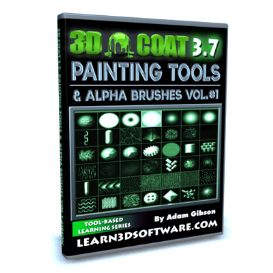 3d coat 3.7-painting tools and alpha brushes-volume #1