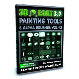 3d coat 3.7-painting tools and alpha brushes-volume #2