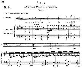 la vendetta, oh la vendetta!  (aria for bass). with recitative