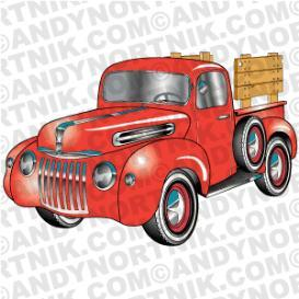 car clip art 1945 ford pickup