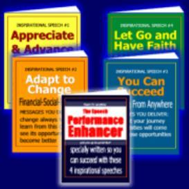 4 Inspirational Speeches + The Speech Performance Enhancer | eBooks | Self Help