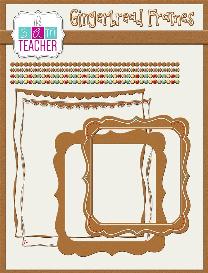 digital gingerbread frames