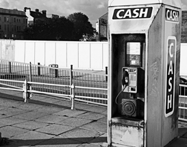 modernist image of a cash machine