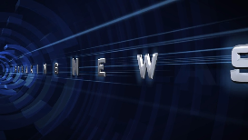 stock intro - breaking news - tube blue