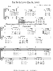 i'm so in love (la, la, love) sheet music