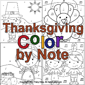 thanksgiving color by note set