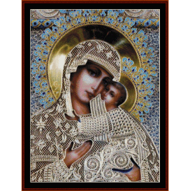 our lady of perpetual help - religious  cross stitch pattern by cross stitch collectibles