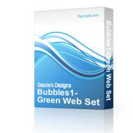 Bubbles1-Green Web Set | Software | Design Templates