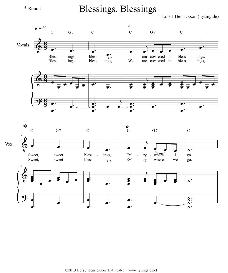 blessings, blessings - sheet music