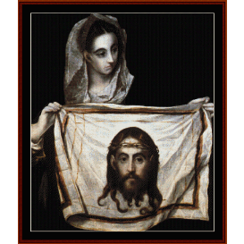 st. veronica - el greco  cross stitch pattern by cross stitch collectibles