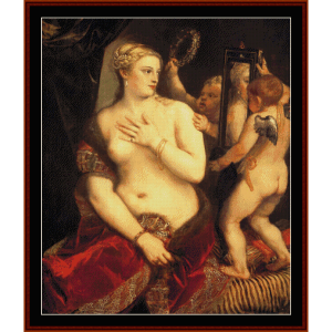 Venus in Front of Mirror - Titian  cross stitch pattern by Cross Stitch Collectibles | Crafting | Cross-Stitch | Wall Hangings