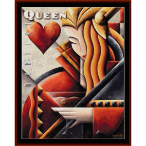 martini queen - vintage poster  cross stitch pattern by cross stitch collectibles