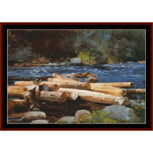 Hudson River - Winslow Homer  cross stitch pattern by Cross Stitch Collectibles | Crafting | Cross-Stitch | Wall Hangings