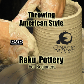 throwing american style raku pottery