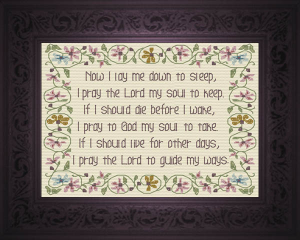 Now I Lay Me - Prayer | Crafting | Cross-Stitch | Religious