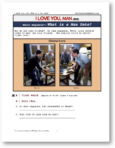 i love you, man, what is a man date?, short-sequence english (esl) lesson
