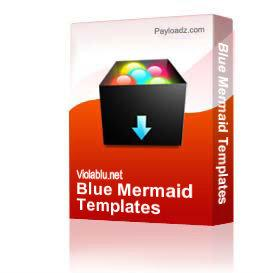 Blue Mermaid Templates | Other Files | Patterns and Templates