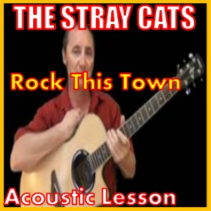 learn to play rock this town by the stray cats