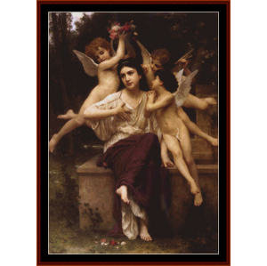Reve de Printemps - Bouguereau cross stitch pattern by Cross Stitch Collectibles | Crafting | Cross-Stitch | Wall Hangings