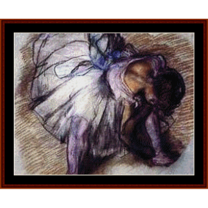 Dancer Tying Shoes - Degas cross stitch pattern by Cross Stitch Collectibles | Crafting | Cross-Stitch | Wall Hangings