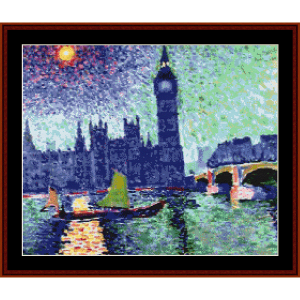 big ben - derain cross stitch pattern by cross stitch collectibles