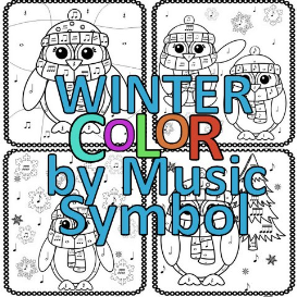 winter color by music symbol