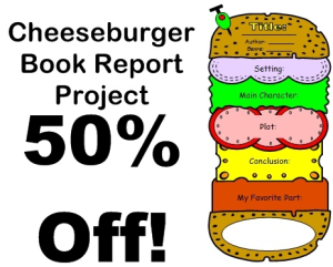 50% Off Cheeseburger Book Report | Documents and Forms | Templates