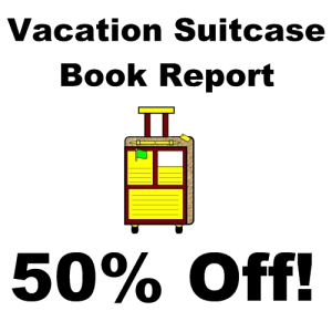 50% Off Main Character Vacation Suitcase Book Report Project | Documents and Forms | Templates