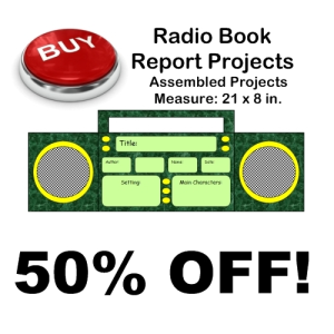 50% Off Radio Book Report Project | Documents and Forms | Templates