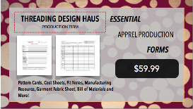 tdh essential apparel production forms