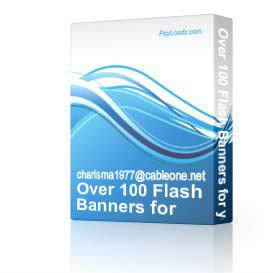 Over 100 Flash Banners for your Website | Software | Design Templates