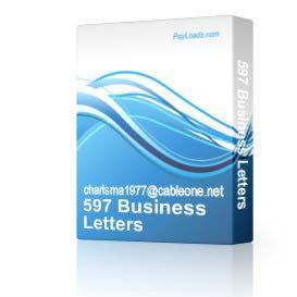 597 Business Letters | Software | Business | Other