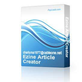 Ezine Article Creator | Software | Developer