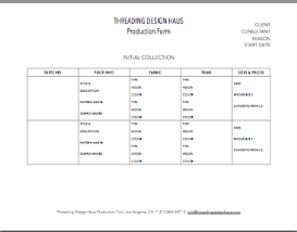 initial collection sheet