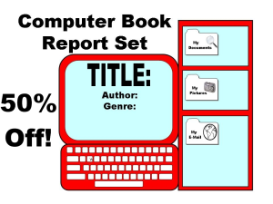 50% Off Computer Book Report Project | Documents and Forms | Templates