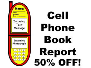 50% Off Cell Phone Book Report Project | Documents and Forms | Templates