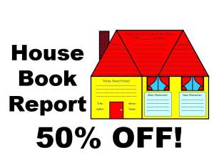 50% Off House Book Report Project | Documents and Forms | Templates