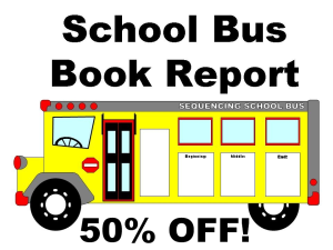 50% Off School Bus Book Report Project | Documents and Forms | Templates