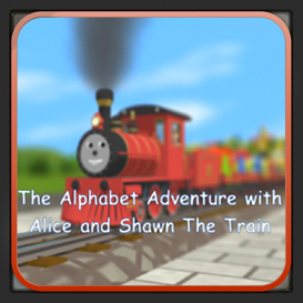 the alphabet adventure  with alice and shawn the train