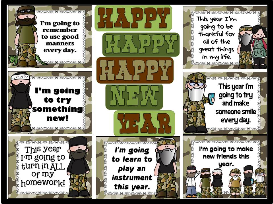 happy happy happy new year duck dynasty inspired bulletin board