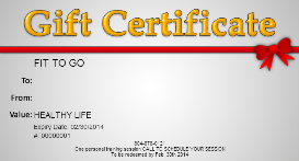personal training session gift certificate