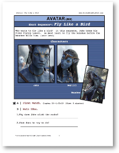avatar, flight lesson, short-sequence english (esl) lesson
