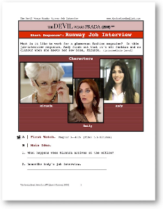 the devil wears prada, job interview, short-sequence english (esl) lesson