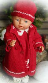 dollknittingpatterns - 0104d mari - dress, coat, pants, shoes, hat and hairband