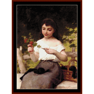 a sprig of flowers - emile munier cross stitch pattern by cross stitch collectibles