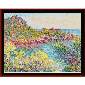 landscape near montecarlo - monet  cross stitch pattern by cross stitch collectibles